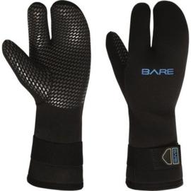 Bare 7mm Three Finger Handschoen