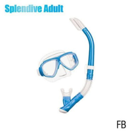 Tusa Splendive Snorkelset Fishtail Blue