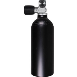 Aluminium Duikcilinder 1,5 liter 200 bar luxfer zwart met kraan