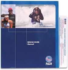 PADI Rescue Diver Theorie Boek, (70080DU) ZONDER BREVET