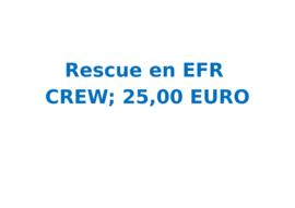 Vrijwilligersvergoeding Rescue en EFR (6 uur)