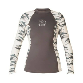 Xcel Rash Guard Dames Lang Dolphin Ocean Ramsey collection