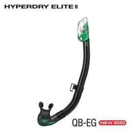 Tusa Hyperdry Elite II Snorkel zwart silicone, meerder kleuren
