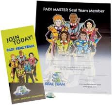 RECOGNITION KIT – PADI MASTER SEAL TEAM WITH APPLICATION, (50272Uk, Engels!)