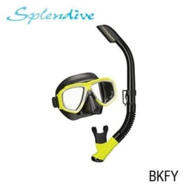 Tusa Splendive Snorkelset Black Yellow