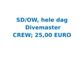 Vrijwilligersvergoeding SD/OW dag, Divemaster (12 uur)