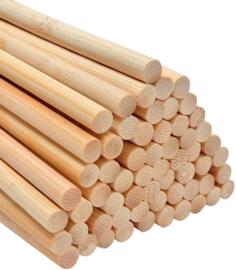 Houten  bamboo stokken