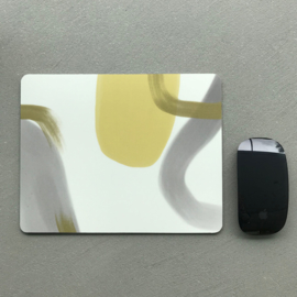 MOUSE PAD - YELLOW GREY (2x)