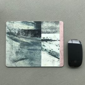 MOUSE PAD PRINT - PINK GREY (2x)