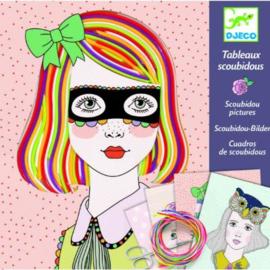 Djeco : Scoubidou Schilderijen - Kleurrijke lokken - 9412