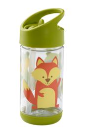 Sugarbooger : Flip & Sip Drinkfles What did the Fox Eat - SBA1125