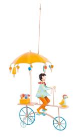 """L'Oiseau Bateau : Decoratieve Fiets """"Ijskraampje Geel"""" - TRI0034"""