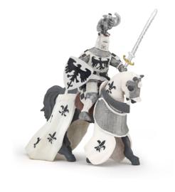 Papo : Paard en Ridder Wit met Adelaar - 60004