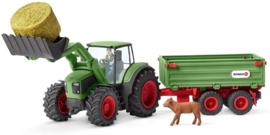 Schleich : Tractor met Aanhanger - 42379