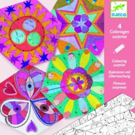 Djeco : Kleuren Mandala's in Bloemvorm - 9655