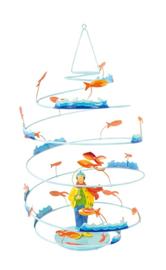 """L'Oiseau Bateau : Decoratieve Spiraal """"Vissertje"""" - SPI0005"""
