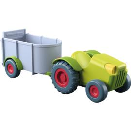 Haba : Little Friends Traktor met Aanhangwagen - 303131