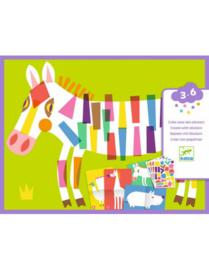 Djeco : Stickeren Grote Dieren - 9046