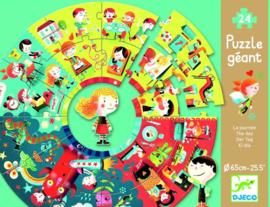 """Djeco : Ronde Puzzel """"Mijn Dag"""" 24 pcs - 7002"""