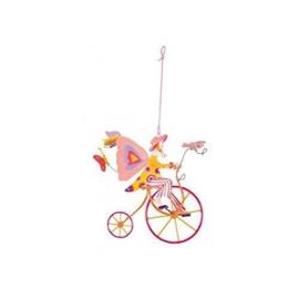 """L'Oiseau Bateau : Decoratieve Fiets """"Roze Vleugels op de Fiets"""" - TRI0032"""