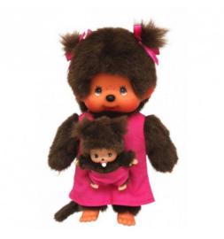 Monchhichi : Meisje 20 cm Mother Care Pink en Baby - 335236200