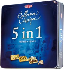 Tactic : Klassieke Spellencollectie 5 in 1 (Hout) - 14006