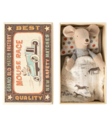 Maileg : Little Brother Mouse in a Matchbox  - 16-0723-01