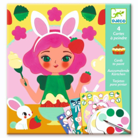 Djeco : Kaarten om te Schilderen Vieruurtje - 9659