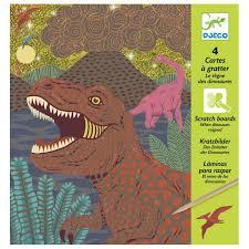 Djeco : Kraskaarten Dino's - 9726