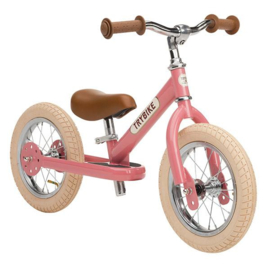Evenwichtsfiets Trybike Steel : Pink Vintage Loopfiets 2 in 1