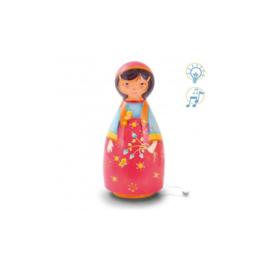 L'Oiseau Bateau : Nachtlampje met muziek Bloemenmeisje - LUC0012