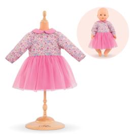 Corolle Poppenkleding Babypop 42 cm Roze jurk met lang mouwen - 16005