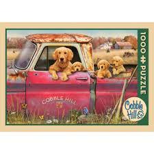 Cobble Hill : Puzzel 1000 pcs Golden Retriever en puppy's - 5851820