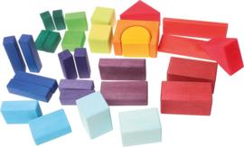 Grimm's :  30 delige houten blokkenset - 10130