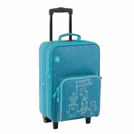 "Lässig Trolley ""About Friends Blue"""