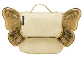 Kleuterboekentas met verstelbare rugriemen : Goud Glitter met Gouden Vleugels