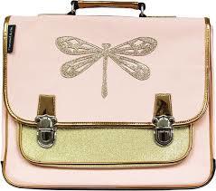 Caramel & Cie Boekentas : Groot Libelle Gouden Glitter - GM045