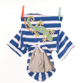 Living Puppets : Kledij  65 cm Wit/Blauwe Sweater - W457