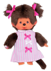 Monchhichi : Meisje Pink Ribbon Dress - 223589