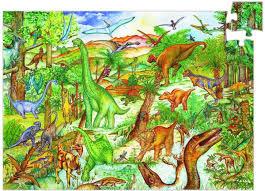 Djeco : Puzzel 100 pcs Dinosaurussen 7424