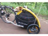 Burley Fietskar Tail Wagon Huisdier Geel