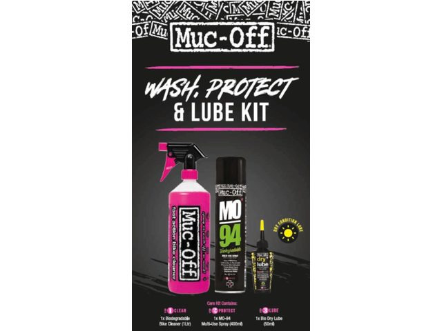 Muc-Off Wash Protect & Lube Kit (Dry Lube Version)