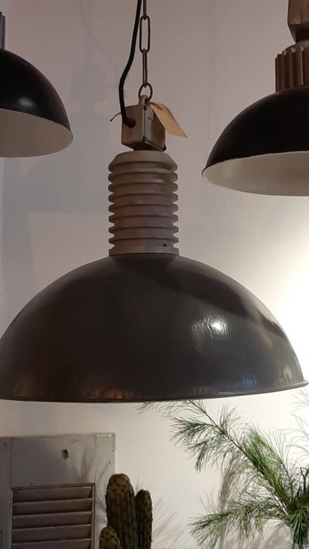 Industriële lamp doorsnede 50 cm antraciet