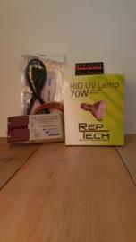 VSA (nieuw) + HID REPTECH 70 watt -> SETPRIJS