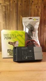 !!! AANBIEDING !!! Schakelbare Philips VSA + Reptech 70W HID lamp