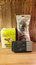 !!! AANBIEDING !!! Schakelbare Philips VSA + Reptech 35W HID lamp