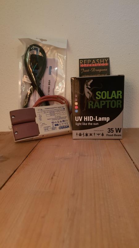 VSA (nieuw) + HID SOLAR RAPTOR 35 watt (flood) -> SETPRIJS