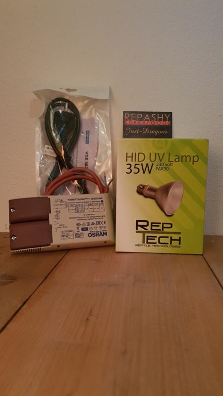 VSA (nieuw) + HID REPTECH 35 watt -> SETPRIJS