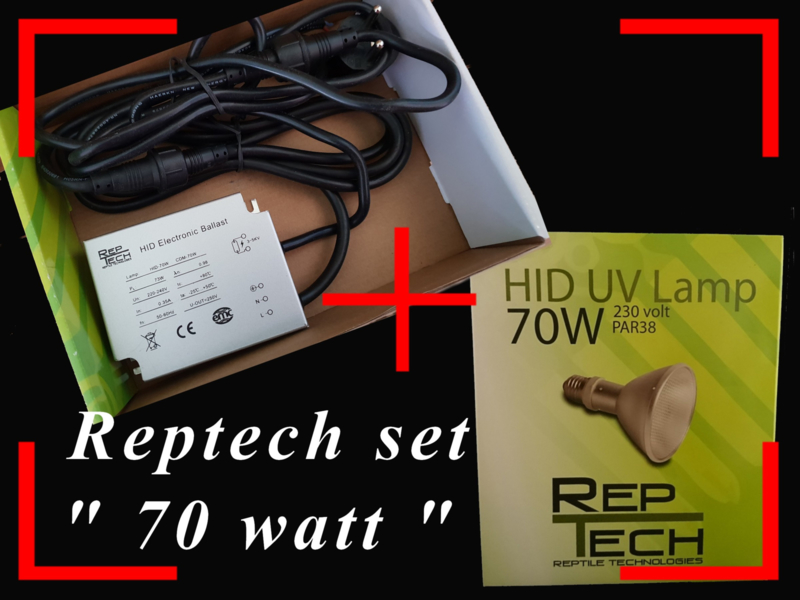 Reptech 70 watt SETPRIJS