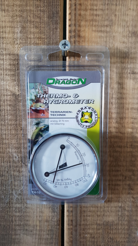 Hygro-thermometer messing 7cm